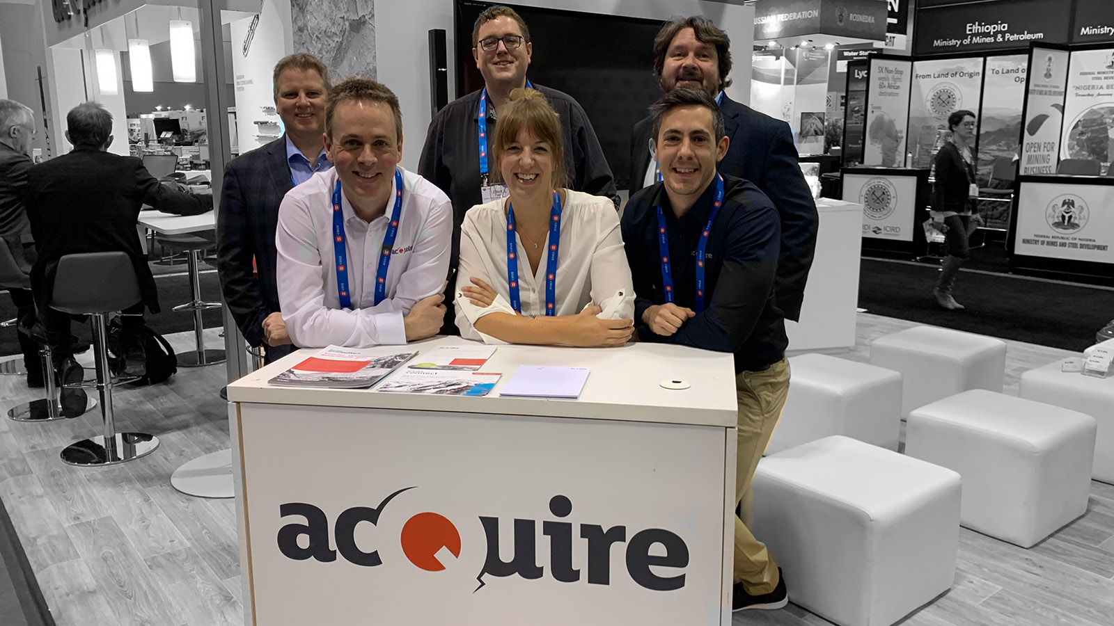 The acQuire team at PDAC convention 2021